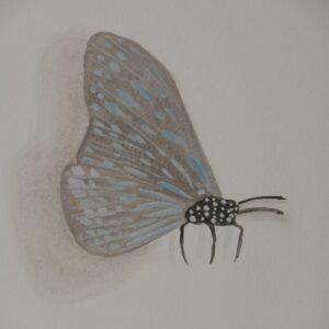 3d vlinder muurschildering babykamer