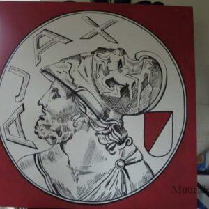 Muurschildering Tekening van het Ajax logo