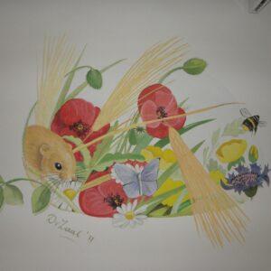 natuur muurschildering voor in de babykamer
